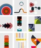 Set of blank minimal geometrical templates stock illustration