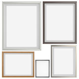 Set of blank modern 3d frame on texture background Stock Images