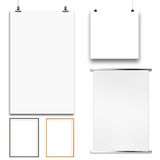 Set of blank modern 3d frame on texture background Stock Photos