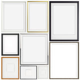 Set of blank modern 3d frame on texture background Stock Photo