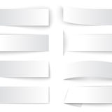 Set of blank paper banners with realistic shadows Royalty Free Stock Photos