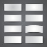 Set of blank paper banners with shadows Stock Images