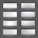 Set of blank paper banners with shadows Stock Photo