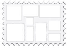 Set of blank post stamps Royalty Free Stock Photography