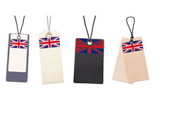 Set of Blank price tags with flag of UK Royalty Free Stock Images