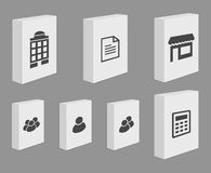 Set of Blank Product Boxes Royalty Free Stock Image