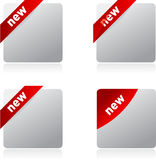 Set of blank, realistic vector stickers Stock Image