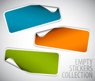 Set of blank rectangle stickers Stock Photo