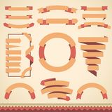 Set of blank retro badges, labels, ribbons and Royalty Free Stock Photos