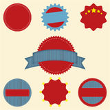 Set of blank retro vintage badge icons for logo, l. Abels, packaging, web and print .eps10 Royalty Free Stock Photo