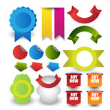 Set of blank retro vintage badges,banners,stickers,bookmark and labels. Stock Photo