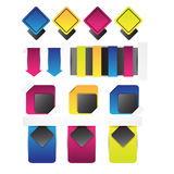 Set of blank retro vintage badges,banners,stickers,bookmark and labels. Stock Images