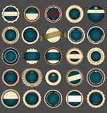 Set of blank retro vintage badges Stock Images