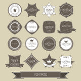 Set of blank retro vintage badges and labels Royalty Free Stock Photography