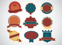 Set of blank retro vintage badges and labels.eps10 Royalty Free Stock Images
