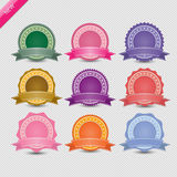 Set of blank retro vintage badges and labels. Stock Photography