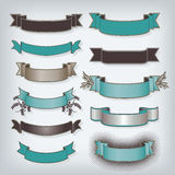Set of Blank Ribbon Banners Royalty Free Stock Photos