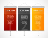 Set of Blank roll up posters Stock Image