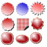Set blank sale stickers and labels Royalty Free Stock Image