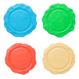 Set of blank seals. Clipping paths Royalty Free Stock Images