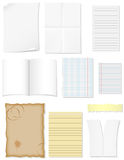 Set blank sheets of paper for design Stock Photo