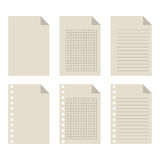 Set of blank sheets of paper. For design Royalty Free Stock Photography