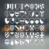 Set of blank of shields Stock Photos