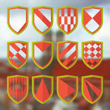 Set of blank of shields 1 Stock Photo