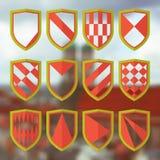 Set of blank of shields 1 Stock Photo