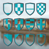 Set of blank of shields 2 Royalty Free Stock Photos