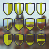 Set of blank of shields 4 Stock Photos