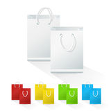 Set of Blank Shopping Paper Bags Stock Photo