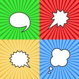 Set of blank speech bubbles in pop art style. vector illustration