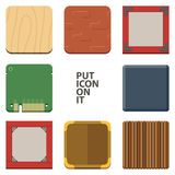 Set of Blank Square Icon Royalty Free Stock Photography