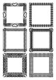 Set of blank square lace frames in black and white Stock Images