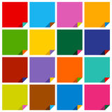 Set of 16 blank squares Royalty Free Stock Images