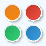 Set of blank stickers. Promotional labels Stock Photography