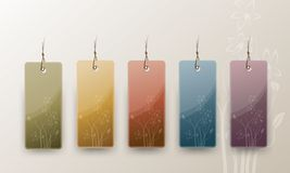 Set of Blank Tags Royalty Free Stock Image