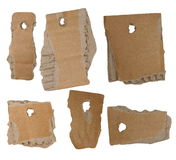 Set blank tags cardboard isolated Stock Images
