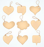 Set of Blank tags heart. Vector illustration Royalty Free Stock Images