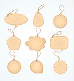 Set of Blank tags heart. Vector illustration Stock Photography