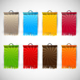Set of Blank Tags  Labels of Different Colors Stock Photos