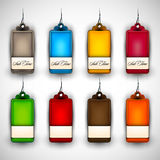 Set of Blank Tags| Labels of Different Colors Stock Photos