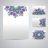 Set of blank templates. Royalty Free Stock Photography