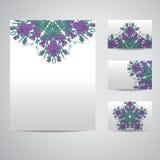 Set of blank templates. Royalty Free Stock Photos