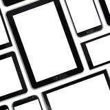 Set of blank templates digital devices Royalty Free Stock Image