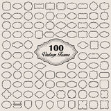 Set of 100 blank vintage frame ( badges and labels). Illustration eps10 Royalty Free Stock Photo