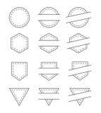 Set of Blank Vintage Frames for Logo -  Vector Illustration Royalty Free Stock Image