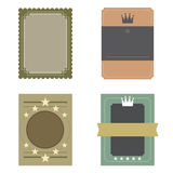 Set of Blank Vintage Retro Rectangle Badge Royalty Free Stock Photos