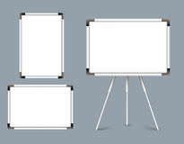 Set of Blank White Boards Horizontal and Vertical Royalty Free Stock Image